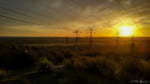 A golden sunset over Melbourne's eastern suburbs captured while mountain biking at Churchill National Park. View from the crest of a hill on North Boundary Track with 360-degree views of Melbourne. Taken by Mike Rennie on Friday 15 May 2016.