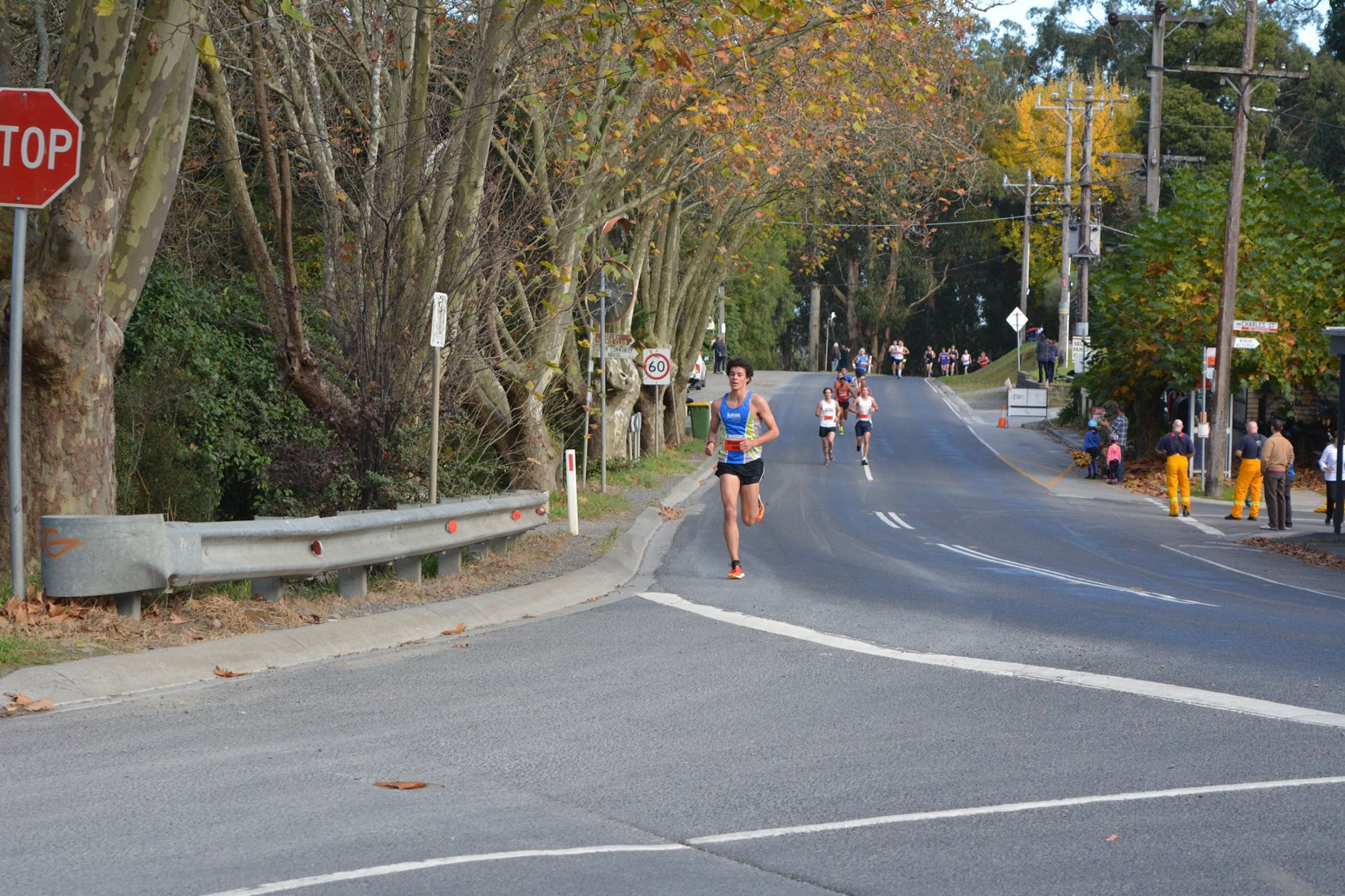 Human Performance Development athlete Mark Richards in the Puffing Billy Great Train Race 2015