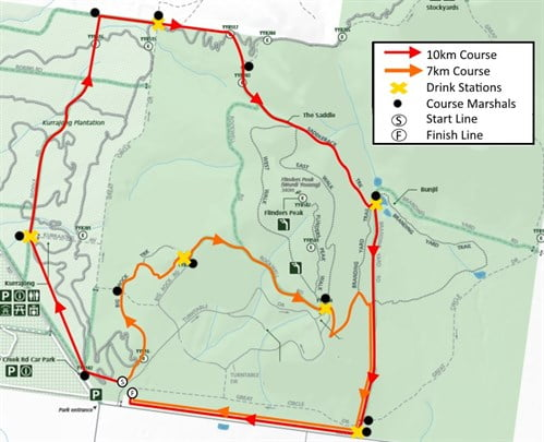 The Trailblazer You Yangs Trail Run Series 2016 - Race 3 Course Map