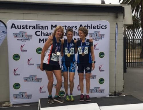 Helen Stanley wins Silver in 2019 Australian Masters Athletics 5000m (Women 60-64) National Championships