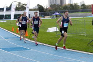 Russell Clowes in the Australian Masters Athletics 800m (Men's 35-39) at the 2019 AMA Track and Field Championships (image by Graeme Dahl)