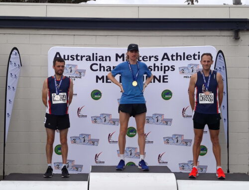 Grund and Clowes take Silver and Bronze at 2019 Australian Masters Athletics 5000m National Championships (Men 35-39)
