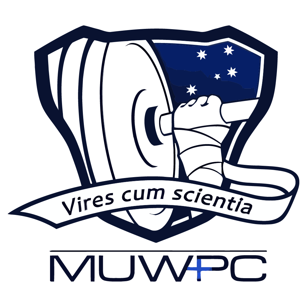 MUWPC Melbourne University Weightlifting and Powerlifting Club logo
